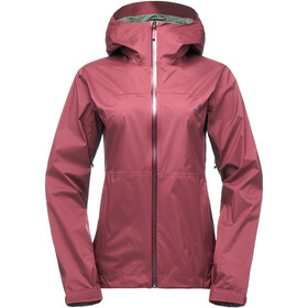 Black Diamond Stormline Stretch Rain Shell Jacket Dame wild rose